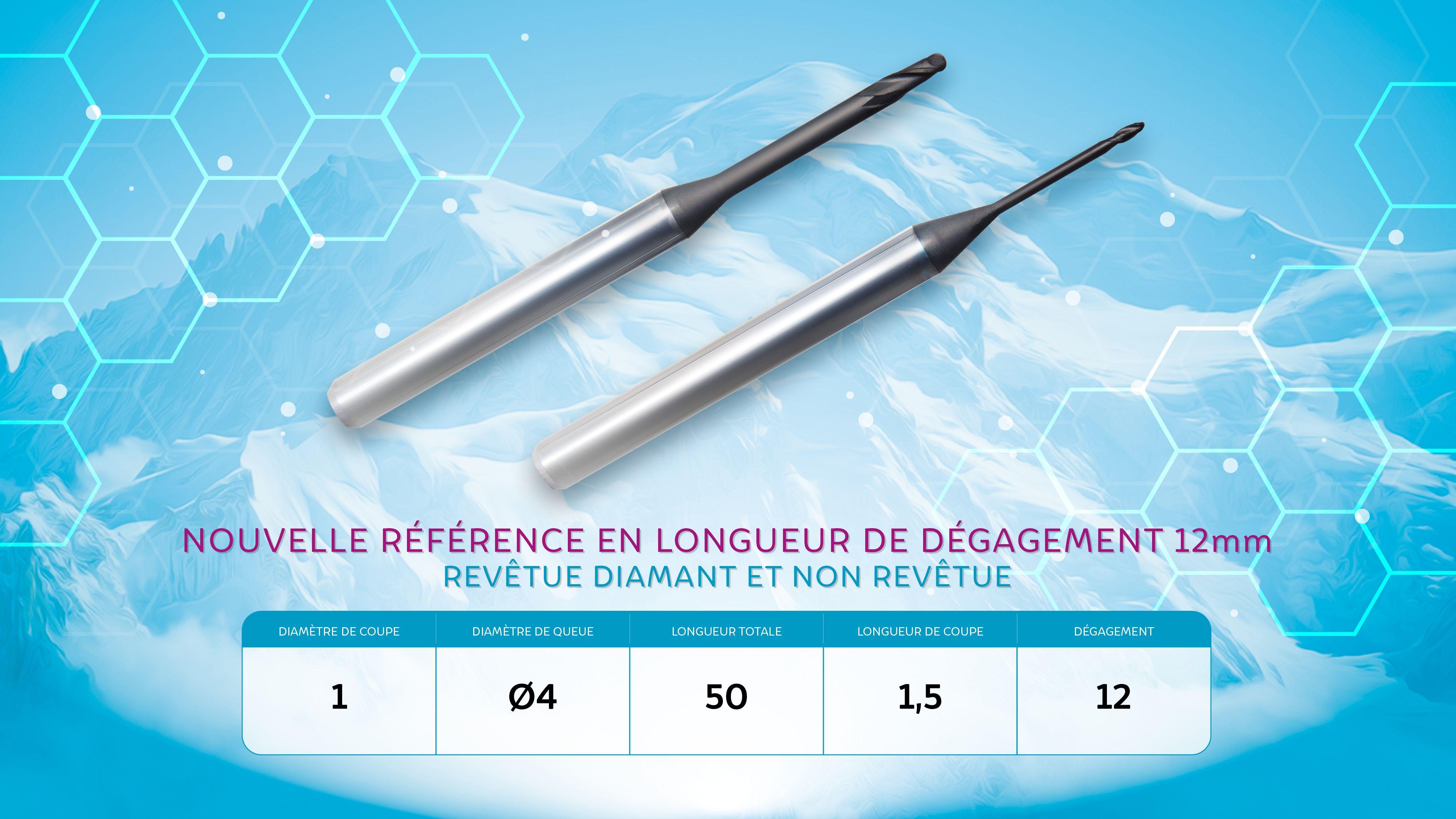 Precxis outils dentaires et medicaux - Nouveaux profils fraises hémisphériques ROLAND